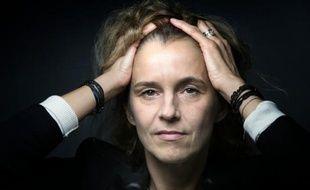 L'écrivain français Delphine de Vigan le 19 octobre 2015 à Paris