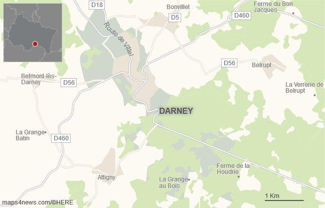 La commune de Darney, dans les Vosges.