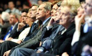 Gérard Longuet et d'autres soutiens à Nicolas Sarkozy, le 27 mars 2012 en Loire-Atlantique.