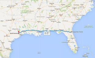 Itinéraire North Houston-Orange Park.