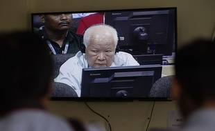 Khieu Samphan, un ancien cadre dirigeant Khmer Rouge a été condamné à la prison à vie pour génocide à Phnom Penh, au Cambodge, le 16 novembre 2016.