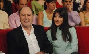 Michel Delpech et sa fille Pauline dans le «Vivement dimanche» (France 2) consacré au chanteur en 2007.