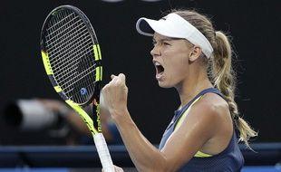 Caroline Wozniacki l'a emporté à Melbourne.