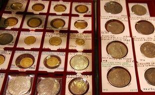 Illsutration de pièces de monnaie de collection.