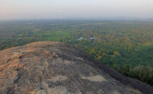 Panorama depuis le rocher de Pidurangala au Sri Lanka.