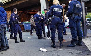 Un contrôle de police à Saint-Ouen, Seine-Saint-Denis (Illustration).