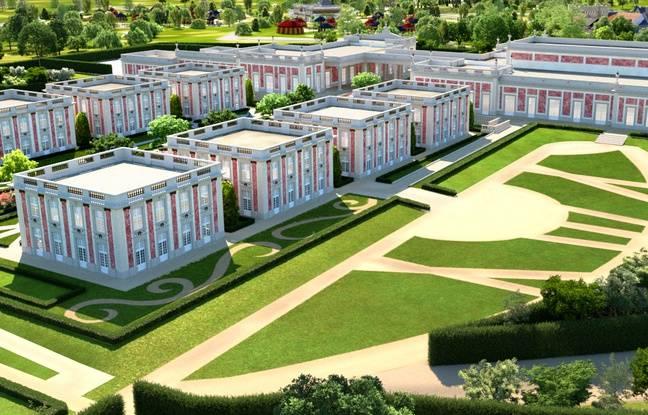 Image de synthèse du projet d'hôtel Le Grand siècle au Puy du Fou.