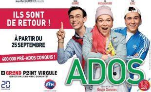 Le spectacle ADOS est au Grand Point Virgule du 22/09/2018 au 06/11/2021