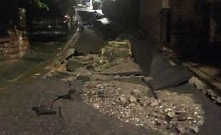 La rue de Voegtlinshoffen la plus ravagée après l'orage de ce mardi 12 juin.