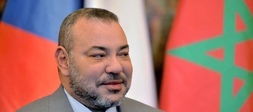 Le roi du Maroc Mohammed VI à Prague, en République tchèque, le 21 mars 2016.