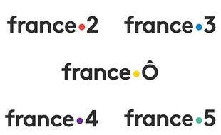 Les nouveaux logos des chaînes France Télévisions à partir du 29 janvier 2018