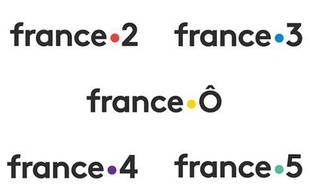 (Illustration) Les nouveaux logos des chaînes France Télévisions à partir en janvier 2018.