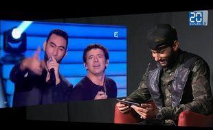Capture d'écran de l'interview vidéo de La Fouine dans les locaux de «20 Minutes».