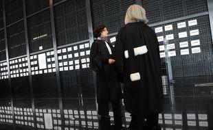 Des magistrats au palais de justice de Nantes.