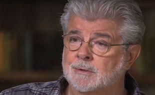 Le réalisateur George Lucas face au journaliste Charlie Rose