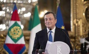 L'ancien gouverneur de  la BCE et futur chef du gouvernement italien, Mario Draghi.