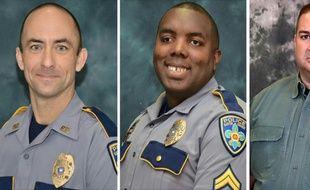 Matthew Gerald, Montrell Jackson et Brad Garafalo, les trois policiers tués à Baton Rouge le 17 juillet 2016