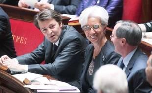François Baroin (à g.) ,ministre du Budget, hier à l'Assemblée nationale.