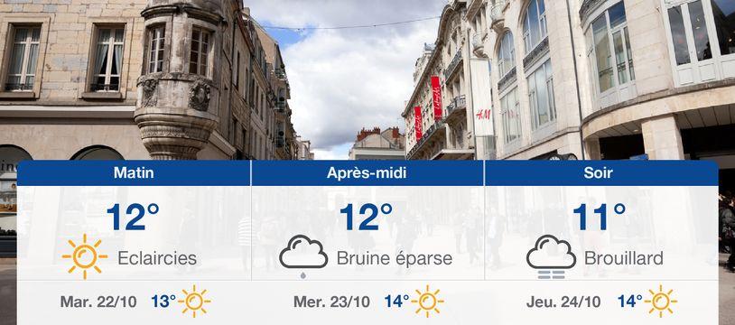 Météo Dijon: Prévisions du lundi 21 octobre 2019