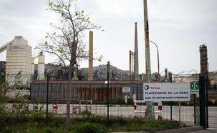 La raffinerie Total de La Mède (Bouches-du-Rhône), le 16 avril 2015