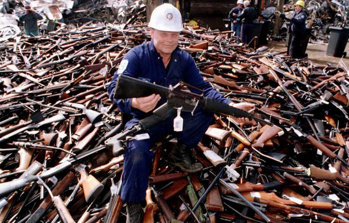 En 1996, l'Australie avait pour la première fois décrétée une amnistie nationale sur les armes à feu illégales et en avait récolté plus de 600.000.  – WILLIAM WEST / AFP