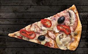 Illustration d'une part de pizza.