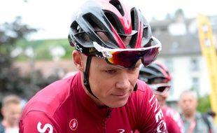 Chris Froome a violemment chuté lors de la reconnaissance du Critérium du Dauphiné en juin 2019.