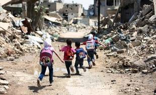 Des ruines à Jobar, dans la banlieue est de Damas, le 30 avril 2016