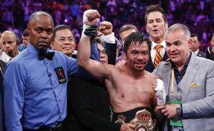 Manny Pacquiao après sa victoire