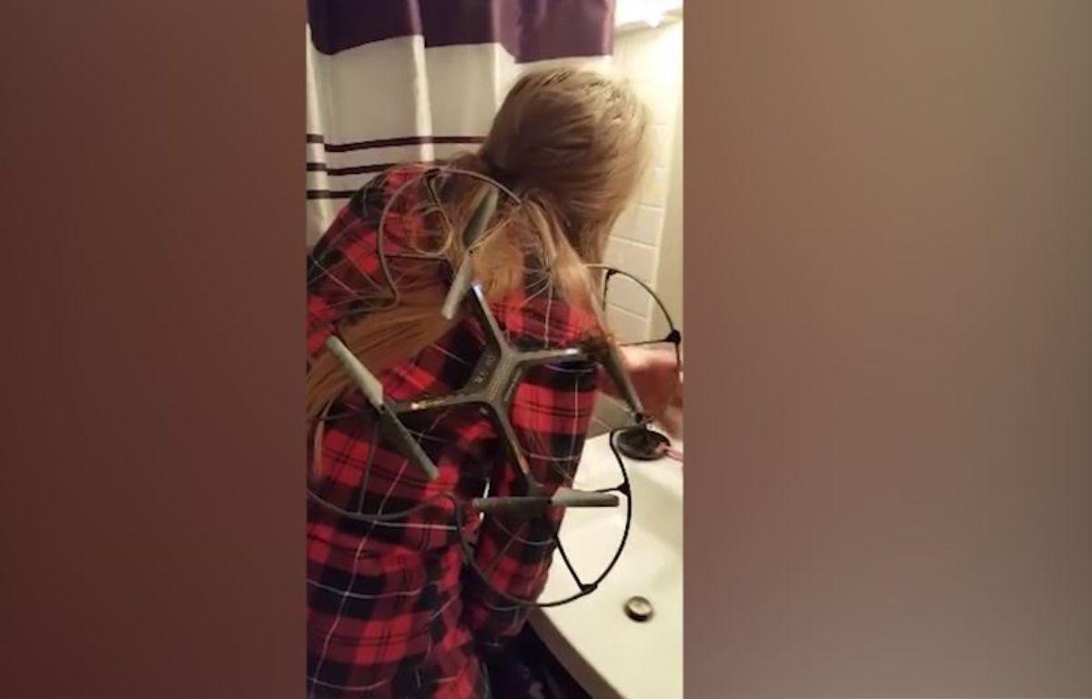 Un drone peut-il coiffer des cheveux? - Le Rewind (video) – Capture d'écran