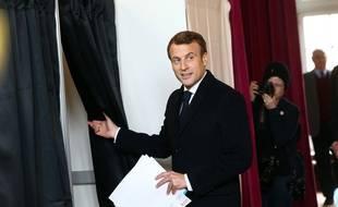 Emmanuel Macron a voté au Touquet le 26 mai 2019, lors des élections européennes.