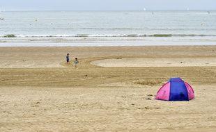 Illustratrion d'une plage en Vendée. Ici celle des Sables d'Olonne