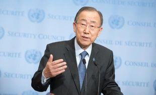 Le secrétaire général de L'Onu Ban Ki-Moon, le 14 décembre 2015 à New York