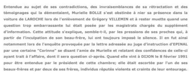 Extrait de l'arrêt rendu par la cour d'appel de Dijon en 1993.