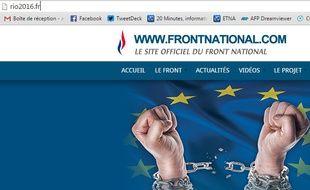 L'adresse rio2016.fr redirige vers le site du Front national.