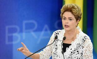 La présidente brésilienne Dilma Rousseff, le 5 octobre 2015 à Brasilia