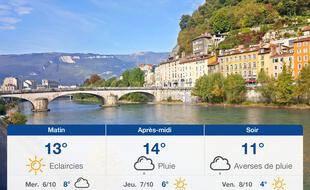 Météo Grenoble: Prévisions du mardi 5 octobre 2021