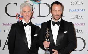 Le journaliste de mode Richard Buckley et son époux, le styliste Tom Ford