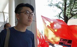 Edward Leung, le 5 août 2016, lors des révoltes à Hong-Kong.