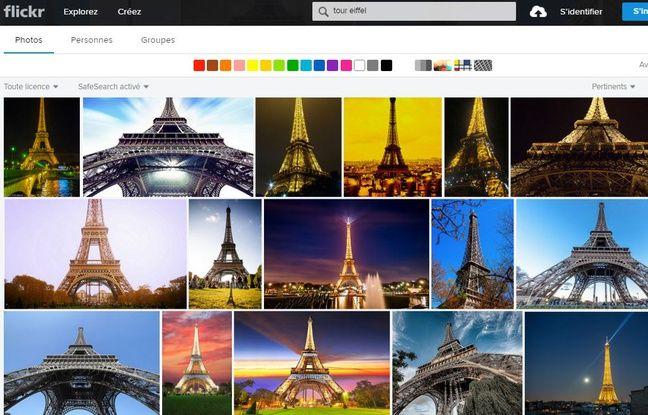 Les photos de la Tour Eiffel, de jour comme de nuit, sont nombreuses sur le site Flickr.
