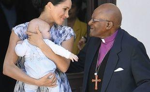 Meghan Markle, Archie et Desmond Tutu.