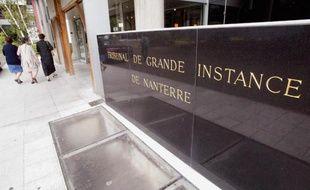 L'entrée du tribunal de grande instance de Nanterre.