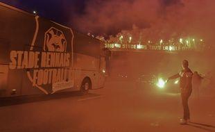 Les supporters du Stade Rennais s'étaient mobilisés avant le premier match de leur histoire en Ligue des champions.