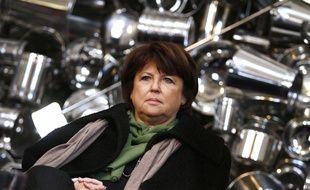 Martine Aubry, lors de la présentation de Lille 3000, en février 2012