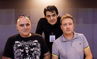 Corbeyran, Brahy and Chapuzet ( de gauche à droite), les auteurs de la bande dessinée