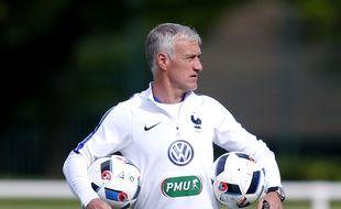 Didier Deschamps, le sélectionneur de l'équipe de France, à Clairefontaine le 26 mai 2016.