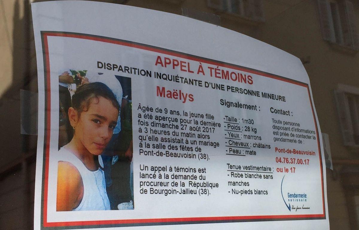 Maëlys, 9 ans, a disparu le 27 août dernier à Pont-de-Beauvoisin en Isère. – E. Frisullo / 20 Minutes