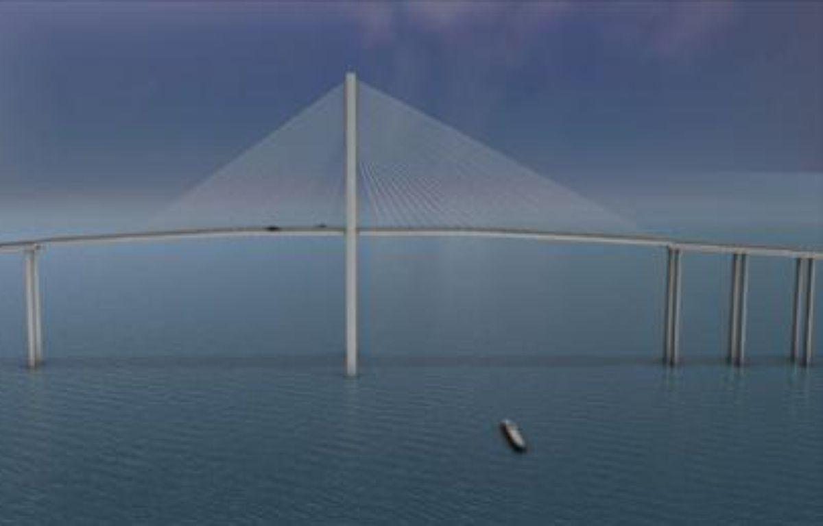 Le futur plus grand pont du monde reliant Qatar à Bahreïn. – Vinci