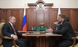Vladimir Poutine et le chef de la région de Tchétchénie, Ramzan Kadyrov, le 19 avril 2017 à Moscou