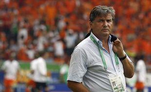 Henri Michel, avec la sélection de la Côte d'Ivoire.